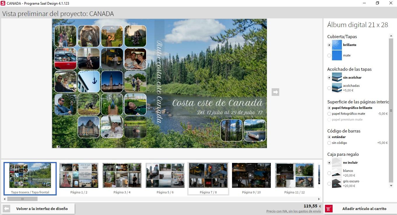 Creación proyecto álbum Saal Digital - Los viajes de margalliver